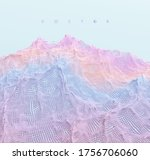 landscape with mountains.... | Shutterstock .eps vector #1756706060