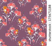 floral seamless pattern | Shutterstock .eps vector #175671188