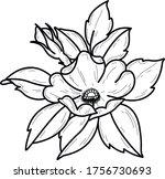 flower tattoo art design...   Shutterstock .eps vector #1756730693