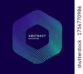 vector abstract hexagon...   Shutterstock .eps vector #1756770986