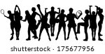 vector silhouette of people in...   Shutterstock .eps vector #175677956