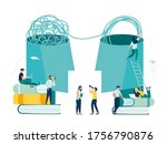 vector illustration  unraveling ...   Shutterstock .eps vector #1756790876