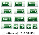 isolated warning  exit ... | Shutterstock . vector #175680068