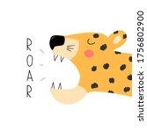 Funny Roaring Leopard. Trendy...