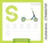 letter s uppercase cute... | Shutterstock .eps vector #1756804769
