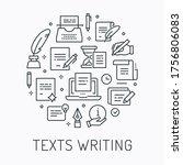 vector copywriting circle... | Shutterstock .eps vector #1756806083
