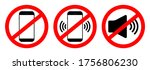 phone off icon. sign of mobile... | Shutterstock .eps vector #1756806230