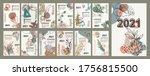 monthly wall 2021calendar... | Shutterstock .eps vector #1756815500