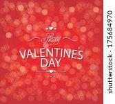 valentine's day red bokeh... | Shutterstock . vector #175684970