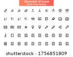 essential ui icons set. editing ...