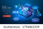 modern flat design landing page ... | Shutterstock .eps vector #1756861529