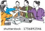 workers team work concept...   Shutterstock .eps vector #1756892546