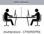 people working on laptops.... | Shutterstock .eps vector #1756902956