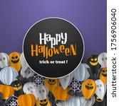 happy halloween banner... | Shutterstock .eps vector #1756906040