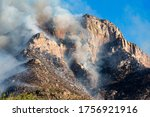 The Bighorn Wildfire Burning...