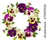 Beautiful Pansy Flowers Wreath...