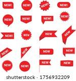 set of new sticker. stickers... | Shutterstock .eps vector #1756932209