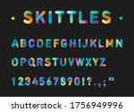 vector alphabet and letters in... | Shutterstock .eps vector #1756949996