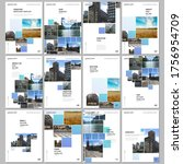 a4 brochure layout of covers... | Shutterstock .eps vector #1756954709