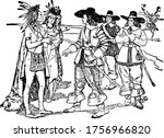 this figure depicts indians... | Shutterstock .eps vector #1756966820