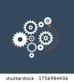abstract techno gear background ...   Shutterstock .eps vector #1756984436