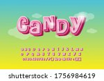candy glossy font design.... | Shutterstock .eps vector #1756984619