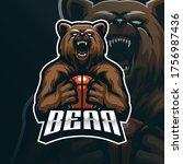 bear mascot logo design vector... | Shutterstock .eps vector #1756987436