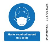 wear face mask safety sign.... | Shutterstock .eps vector #1757015606