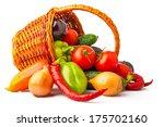 autumn fresh vegetables in...   Shutterstock . vector #175702160