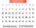 arrows ui icons set. increase ...