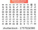 multimedia ui icons set....