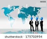 bulb head man. vector... | Shutterstock .eps vector #175703954