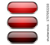 red glass buttons with chrome...   Shutterstock . vector #1757052233