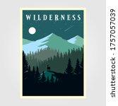 adventure mountain camp poster... | Shutterstock .eps vector #1757057039