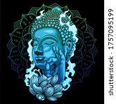 Buddha Statue With Lotus Flower ...