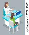 consultation with doctor. woman ... | Shutterstock .eps vector #1757114000