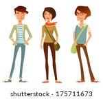 cute cartoon illustration of...   Shutterstock .eps vector #175711673