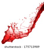 beautiful splash of red wine... | Shutterstock . vector #175713989