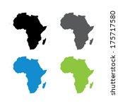 africa map | Shutterstock . vector #175717580