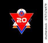 anniversary of 20 years. vector ...   Shutterstock .eps vector #1757176979