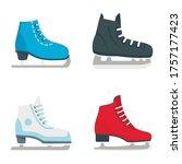 Ice Skates Icon Set. Flat Set...