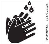 wash your hands to avoid viruses | Shutterstock .eps vector #1757198126