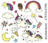Stock Illustration  Cute Set O...
