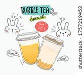 bubble tea special promotions... | Shutterstock .eps vector #1757219453