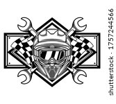 black and white racing team... | Shutterstock .eps vector #1757244566