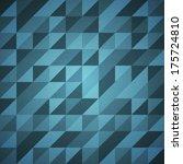 Blue Retro Background Pattern...