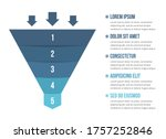 funnel diagram with 5 elements  ... | Shutterstock .eps vector #1757252846