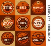 set of retro vintage badges and ... | Shutterstock .eps vector #175725596