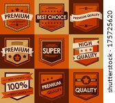 set of retro vintage badges and ... | Shutterstock .eps vector #175725620