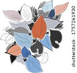 abstract creative header with... | Shutterstock .eps vector #1757261930